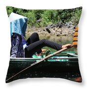 Rowing Boat With Legs, Tam Coc  Throw Pillow