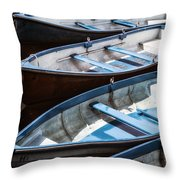 Rowing Boats Throw Pillow
