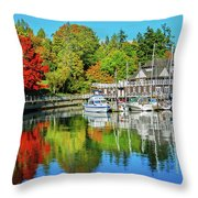 Rowing Club Color Throw Pillow