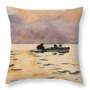 Rowing Home Throw Pillow by Winslow Homer
