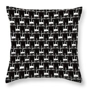 Rows And Rows Of Anonymous Faceless People Throw Pillow