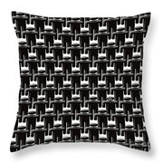 Rows And Rows Of Anonymous Faceless People With One Smiling Throw Pillow