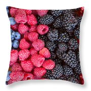 Rows Of  Berries  Throw Pillow