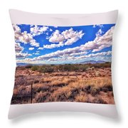 Rows Of Clouds Over Sonoran Desert Throw Pillow
