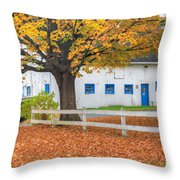 Roxbury Connecticut Barn Square Throw Pillow