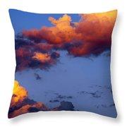 Roy-biv Clouds Throw Pillow