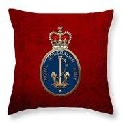 Royal Australian Navy -  R A N  Badge Over Red Velvet Throw Pillow