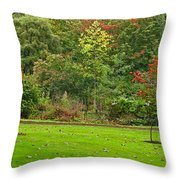 Royal Autumn Colors Throw Pillow