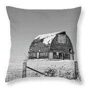 Royal Barn Winter Bnw Throw Pillow