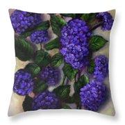 Royal Blue Hydrangea Throw Pillow