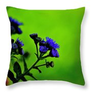 Royal Blue In A Sea Of Green Throw Pillow