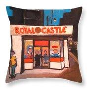 Royal Castle Throw Pillow