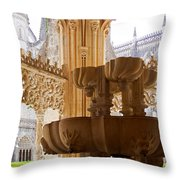Royal Cloister Of The Batalha Monastery Throw Pillow