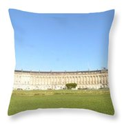 Royal Crescent, Bath Throw Pillow