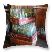 Royal Crown Cola Throw Pillow