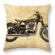 Royal Enfield Classic Chrome 2016, Poster For Men Cave Throw Pillow
