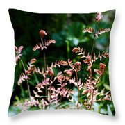 Royal Fern Fronds Throw Pillow