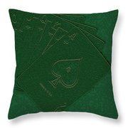 Royal Flush Throw Pillow