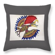 Royal Flycatcher- Mayan 2 Throw Pillow