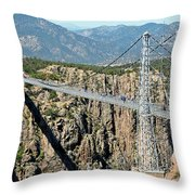 Royal Gorge Bridge In Summer Throw Pillow