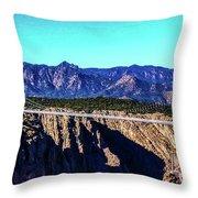 Royal Gorge Bridge Throw Pillow