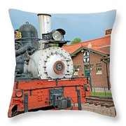 Royal Gorge Train And Depot Throw Pillow