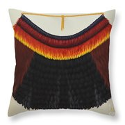 Royal Hawaiian Feather Cape Throw Pillow