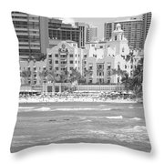 Royal Hawaiian Hotel - Waikiki Throw Pillow