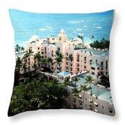 Royal Hawaiian Hotel  Throw Pillow