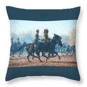 Royal Horse Artillery Painted Throw Pillow