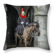 Royal Horseguard In London Throw Pillow