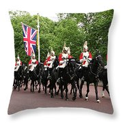 Royal Household Cavalry Throw Pillow