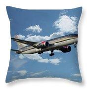 Royal Jordanian 787 Jy-baf Throw Pillow