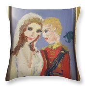 Royal Kiss Throw Pillow