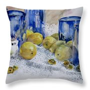Royal Lemons Throw Pillow