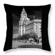 Royal Liver Buildings_beatle Country Throw Pillow