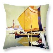 Royal Mail Atlantis Autumn Cruises Vintage Travel Poster Throw Pillow