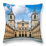 Royal Monastery El Escorial Throw Pillow
