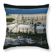 Royal Naval Dockyard Bermuda Throw Pillow