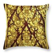 Royal Palace Gilded Door 02 Throw Pillow
