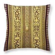 Royal Palace Gilded Doors Throw Pillow