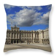 Royal Palace Of Madrid Spain Throw Pillow