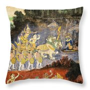 Royal Palace Ramayana 08 Throw Pillow