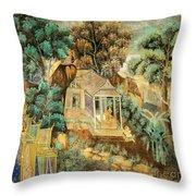 Royal Palace Ramayana 12 Throw Pillow
