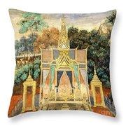 Royal Palace Ramayana 13 Throw Pillow