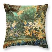 Royal Palace Ramayana 14 Throw Pillow