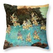 Royal Palace Ramayana 16 Throw Pillow