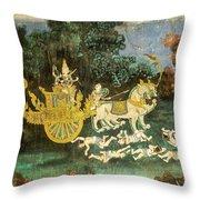 Royal Palace Ramayana 19 Throw Pillow