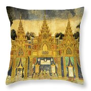 Royal Palace Ramayana 20 Throw Pillow