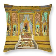 Royal Palace Ramayana 21 Throw Pillow